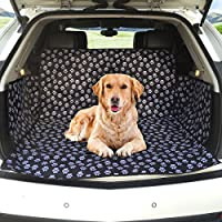 MATCC Car Boot Cover for Dogs Car Boot Liner Protector Waterproof Boot Protector Mat Trunk Dogs Cover with Side Protection Fits Most Cars, SUV, Vans & Trucks(Cute Dog Claw )