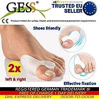 GESS GESS-008 2x Silikon Soft-Gel Zehenspreizer, Zehentrenner für Hallux Valgus Therapie, Small, weiß preisvergleich bei billige-tabletten.eu