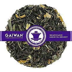 "Nr. 1403: Grüner Tee ""Sencha Mango-Maracuja"" - 100 g - GAIWAN® TEEMANUFAKTUR - Chun Mee und Sencha aus China, Sonnenblumenblüten, Sencha, Grüner Tee Lose, Grüntee, Green Tea Loose Leaf"