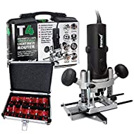 "Trend T4EK 1/4"" Variable Speed Router 110V + 12 Piece Cutter Set"