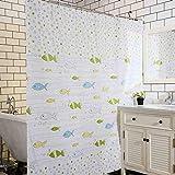ZBB der Schutz der Umwelt Mehr Dicken Vorhang der undurchlässigen Dusche hindert die Form Schneiden Peva Duschvorhänge Material Nicht Zerknittert (Farbe 180 * 180cm)