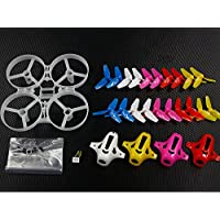 Price comparsion for UUMART 85mm Tiny Whoop Frame Kits with Canopy for KINGKONG TINY 8X DIY Micro FPV Quadcopter Mini Drone (Red/White/Yellow/Rose Red/Blue)