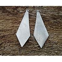 necktie, orecchini in alluminio martellato. Anallergici