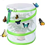 Yeelan Butterfly Habitat Collapsible Bug Catcher Net Mesh Insects Plant Cage Pop-up for Kids/Child/Toddler Catching…