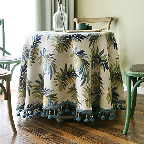 Maoge Home tischdecke,Qualitativ hochwertigen Karierten tischdecke,Stoff Baumwolle leinen Mediterrane Platz Europäische tischdecke Wohnzimmer Teetisch Längliche tischdecke -Gelb 100x100cm(39x39inch)