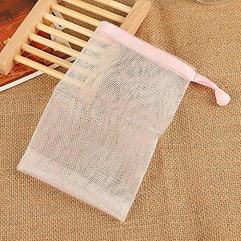EQLEF® 5 PCS Handmade Soap Bubble Foam Nets Soap Bubble Bubble Meshes Meshes Body Bag et Facial outil de nettoyage