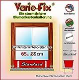 Vario-Fix Standard Haltebügel für 15cm Blumenkasten mit 65cm Spannstange