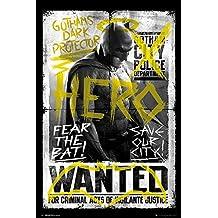 "Póster Batman vs Superman ""Hero Wanted/Héroe buscado"" (61cm x 91,5cm)"