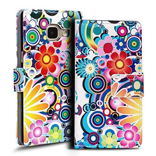 Verco Handyhülle Galaxy A3 2017 Muster, Motiv Hülle für Samsung Galaxy A3 A320 Book Case Flip Cover - Design 3