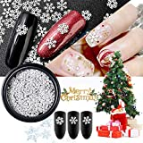 Allbesta 1 Box Thin Sheet Schneeflocke Design Nail Art Decorations Weihnachten Nails Nageldesign Rhinestones Manicure Nagelkunst Zubehör Dekorationssets