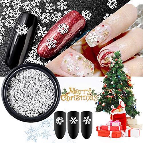Allbesta 1 Box Thin Sheet Schneeflocke Design Nail Art Decorations Weihnachten Nails Nageldesign Rhinestones Manicure Nagelkunst Zubehör Dekorationssets