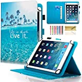 Dteck (TM) Étui universel pour Samsung Galaxy, tablette iPad d'Apple, Amazon Kindle, Google Nexus et plus 6.5–26,7 cm Tablette For 9.5-10.5 inch tablet 05 Live It