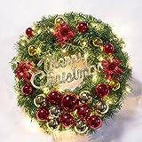 Weihnachtskranz, beleuchtete Ornament Kranz Tür Kranz Weihnachten Ornamente Deko 50cm leichte Schneemann beugen schöne Girlande , section plate