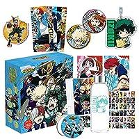 Christ For Givek My Hero Academia Animation Hanging Fridge Sticker Poster Postcard Water Bottle Keychain Badge Gift Box Anime Gift Set