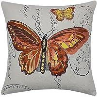 Francobolli farfalle arancione nero giallo 45,7cm cuscino