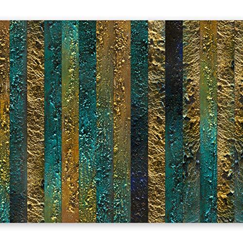 Streifen Wand (murando - Fototapete 400x280 cm - Vlies Tapete - Moderne Wanddeko - Design Tapete - Wandtapete - Wand Dekoration - Textur Gold Abstrakt - wie gemalt f-A-0436-a-a)
