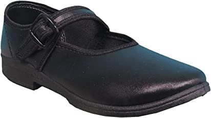 Action Girls Black School Shoes (A2)