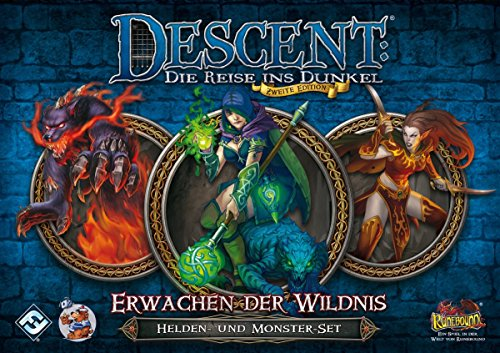 Fantasy-Flight-Games-FFGD1329-Descent-2-Ed-Erwachen-Der-Wildnis