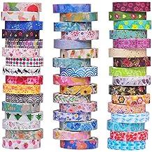 48 rolls washi tape set 8mm breite dekorative abdeckband bunte blumenart design fur diy