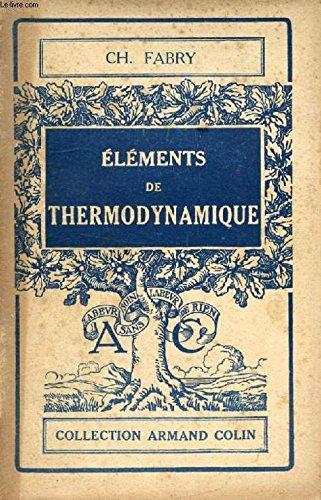 Éléments de thermodynamique