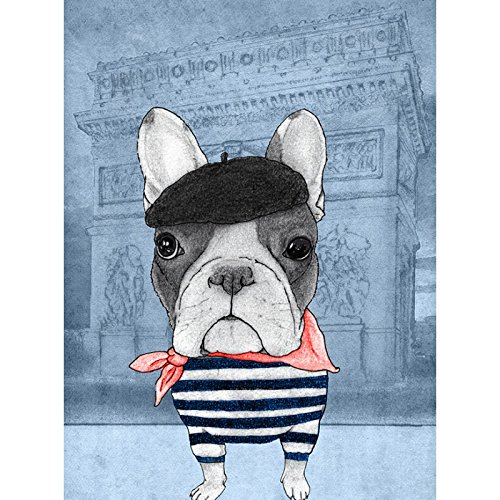 Coque iPhone 6 Plus et 6S Plus de chez Skinkin - Design original : French Bulldog in Arc de triomphe par Skin iPhone 6 Plus et 6S Plus