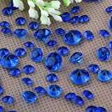 5000 Diamond Scatter Crystals Confetti Wedding Table Decoration 2 Mixed Sizes (Royal blue)