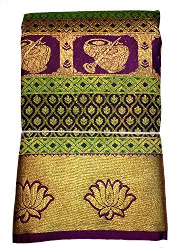 Pure Silk Kanchipuram Bridal Pattu Sarees with Rich Butta All Over and...