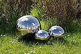 3er Köhko Gartenkugeln 15, 25 und 40 cm poliert aus hochwertigem Edelstahl Dekokugeln-Set 15-25-40