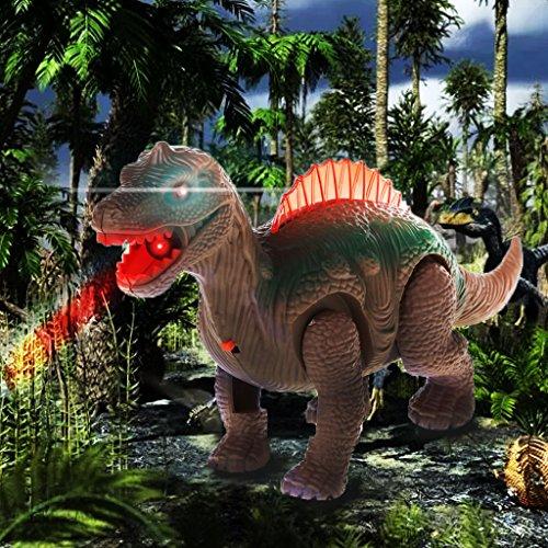 Gjyia Mighty Elektrisches Laufen mit Sound, Dinosaurier-Spielzeug für Kinder