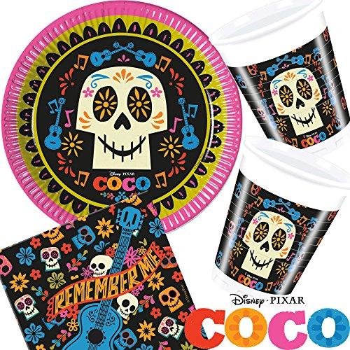 37Juego de set de fiesta * Coco-verdadera como la vida. * para cumpleaños con + vasos + Servilletas + FIESTA//Plato niños fiesta de cumpleaños fiesta temática temática