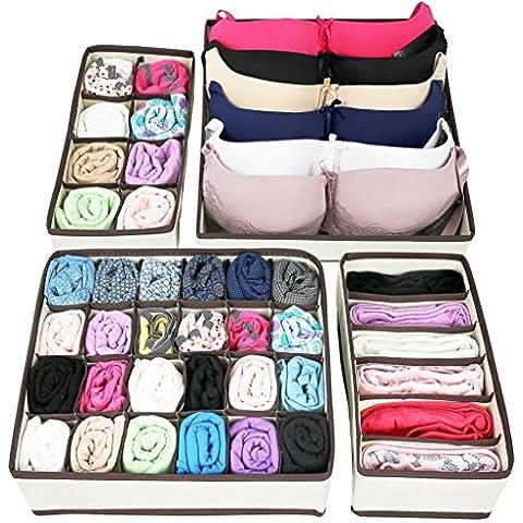 yarbar plegable de la ropa interior de las cajas de almacenaje del sujetador del organizador del