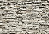Fototapete - STEINWAND- (143i) Größe 366x254 cm 8-teilig - Steine Wand Stein Mauer Felsen Granit Landschaft Natur Wohnzimmer Kinderzimmer Küche- Motivtapete Postertapete Bildtapete Wall Mural