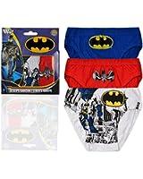 Boys Official DC Comic Cartoon Batman Briefs New Kids Underwear 3 Pack Pants