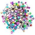 WINOMO 20pcs Colorful Women Tongue Ring Bar Stud (Random Color) : everything £5 (or less!)