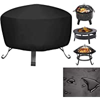 Mioke Fire Pit Cover,Heater Cover Waterproof Breathable Oxford Fabric Outdoor Garden Patio,UV Protector (80 * 80 * 65cm)