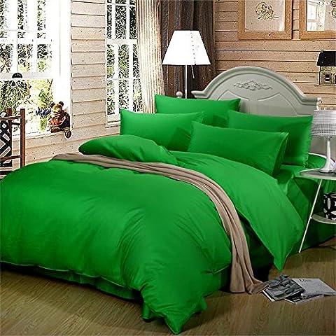 Set di biancheria da letto,100% cotone 360-Pezzo Copripiumino imposta,set di fogli European Wind puro cotone tessuto liscio, Regina - Tessuto Fogli Cotone