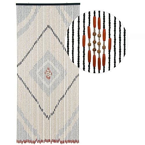 ürvorhang Form: Holz, Farbe: BRAUN, Material: Holz, Größe: 90 x 200 cm ()