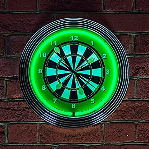 Darts Neon Clock 240V 3 PRONG UK by Icon Neon
