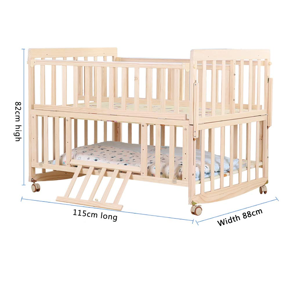 VBARV Solid Wood Environmentally Friendly Paint-free Twin Crib, Baby Double Child Bed, Queen Size Bed, Matching Seven-piece Set VBARV Environmentally friendly, no paint, made of pure solid wood, it is really for the health of the baby! Safe care, close to the natural colors, unique design style set the essence of a lifetime. Anti-corrosion and insect-proof, strong durability, anti-interference aging, corrosion resistance, water resistance, good coloration. 3