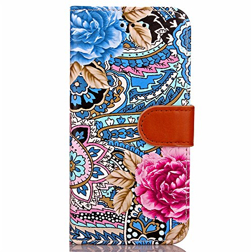 Vandot 3 in1 Sottile Classico Protector Custodia in Pelle per iphone 7 Plus Flip Case Luccichio Caso Shell Bling Book Magnete Snap-on Stile + Rhinestones Crown Corona Modello Anti-Dust Spina + Cavo Mi Design 1