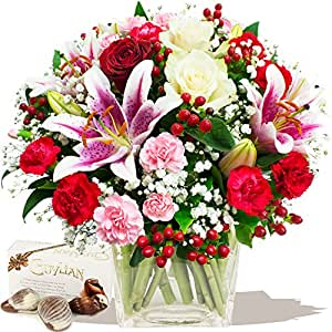delight bouquet chocolates birthday flowers thank you and anniversary bouquets by. Black Bedroom Furniture Sets. Home Design Ideas