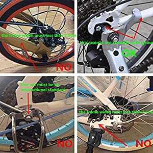 Children Variable Bicycle Iron Training Wheels (16''--20'')