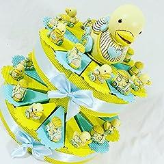 Idea Regalo - (25 bomboniere+salvadanaio) torta bomboniere battesimo nascita maschio trenino e paperella con centrale salvadanaio kkk