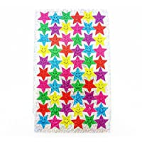 100 Sparkle Smiles Stickers & 100 Sparkle Stars Stickers - Great for Reward Charts & Marking School Work