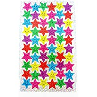 100 Sparkle Smiles Stickers & 100 Sparkle Stars Stickers - Great for Reward Charts & Marking School Work