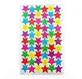 Most Popular Fun Sparkly Colourful Shimmer Effect Cute Stickers for Arts and Crafts, Phone Decoration, Scrap Book Decorations Classroom Reward Stickers School Teacher Kids (2000 Smiley Stickers)