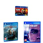 Sony PS4 Slim 1TB Console (Free Game: Red Dead II Redemption) + PS4 GOD OF WAR + PS4  DETROIT BECOME HUMAN