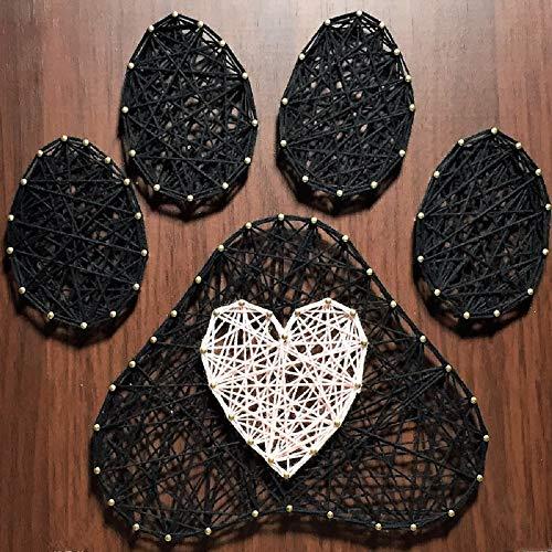 E&M String Art Kit - The Cat Pw String Art, Adult Crafts Kit, Arts and Crafts Set, DIY Kit, Crafts Kit, Kits für Erwachsene, alle notwendigen Bastelzubehör im Set enthalten 30 * 30