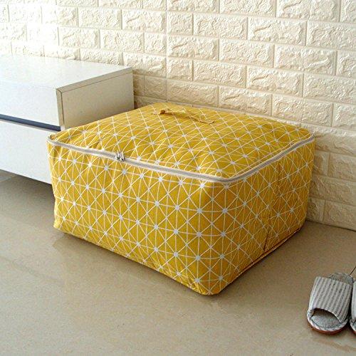 CUPWENH Speicher-Box/Lagerung Tasche Die Großen Quilt, Packen Sie Ihre Koffer Seesack Quilt Tasche Kleidung Tasche Canvas Tasche, Gelben Pfeil, König 60 * 49 * 29 cm -