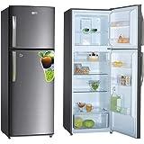 Super General 410 Liter Gross Compact Refrigerator/ Silver/ LED Lighting/ Child-Lock/ Frost-Free/ 60 x 65 x 170 cm/ SGR410I